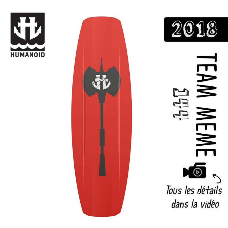 planche de wakeboard homme Humanoid 2018 Team Meme 144 cm black friday