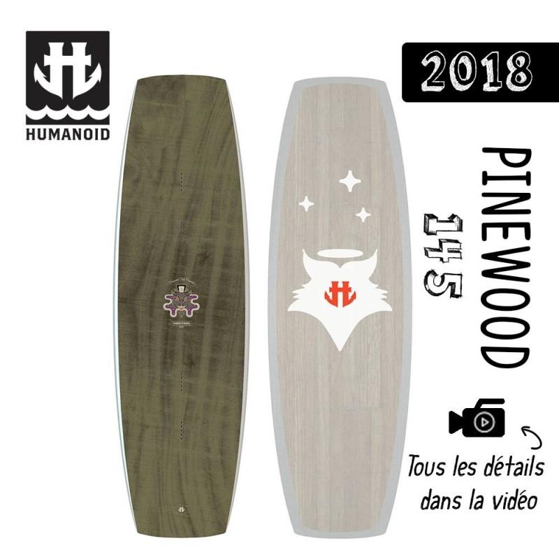planche de wakeboard Humanoid 2018 PINEWOOD 145 cm, 140 cm