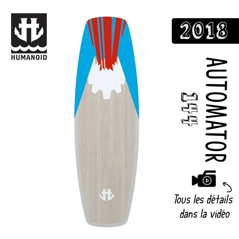 planche de wakeboard homme Humanoid 2018 Automator 144 cm black friday
