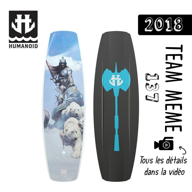 planche de wakeboard Humanoid 2018 Team Meme 137 cm destockage