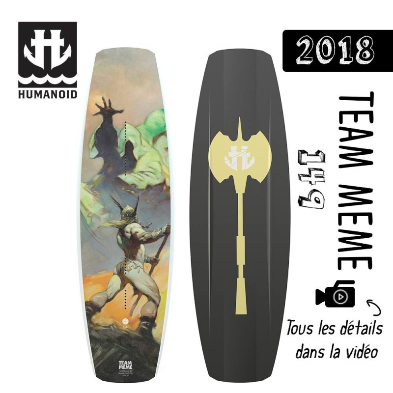 planche de wakeboard Humanoid 2018 Team Meme 149 cm destockage