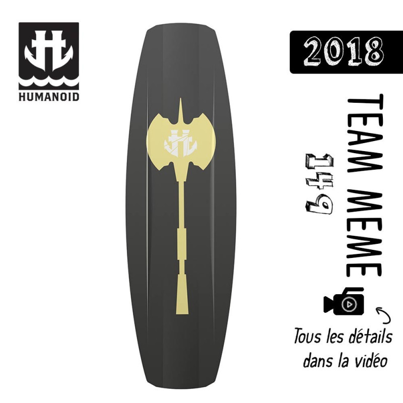 planche de wakeboard homme Humanoid 2018 Team Meme 149 cm black friday