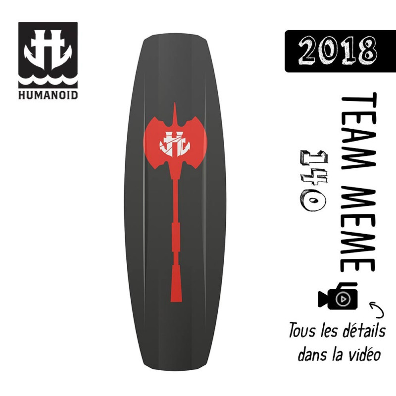planche de wakeboard homme Humanoid 2018 Team Meme 140 cm black friday