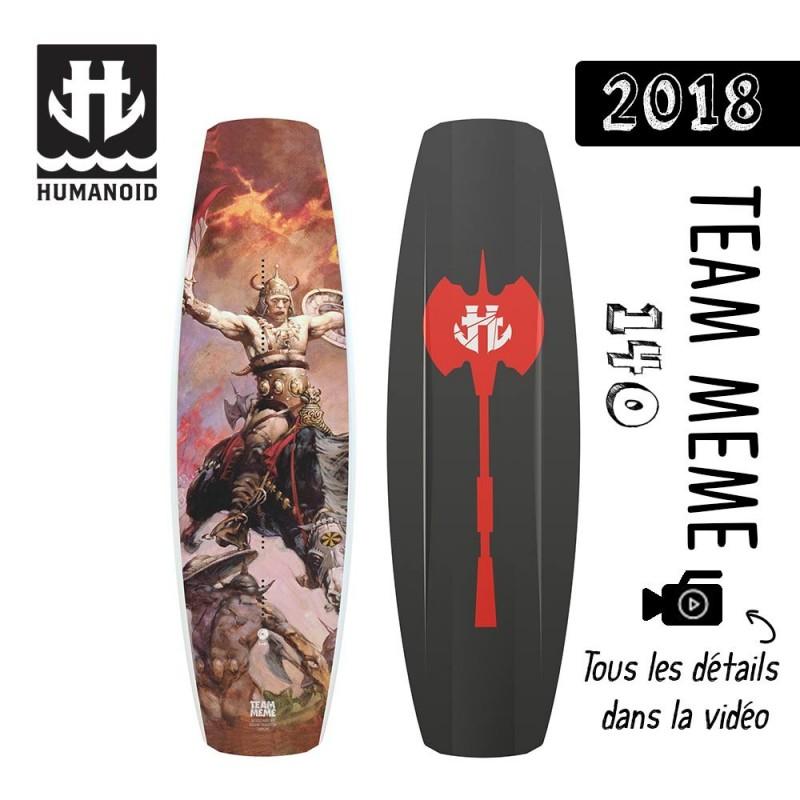 planche de wakeboard Humanoid 2018 Team Meme 144 destockage