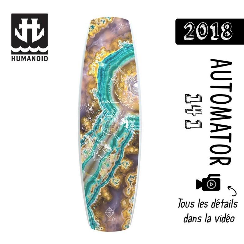 planche de wakeboard Humanoid 2018 Automator 141 cm destockage