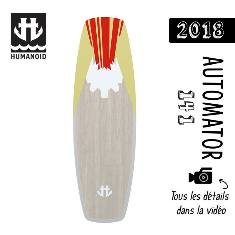 planche de wakeboard homme Humanoid 2018 Automator 141 cm black friday