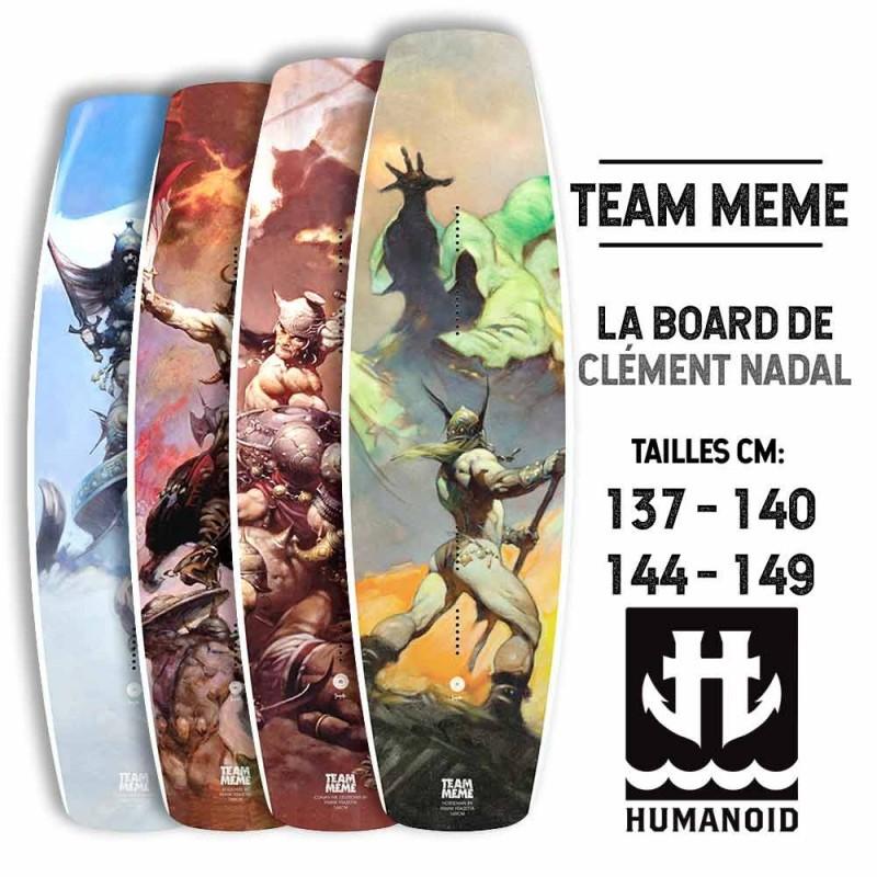 planche de wakeboard Humanoid 2018 Team Meme 149 cm, 144 cm, 140 cm, 137 cm