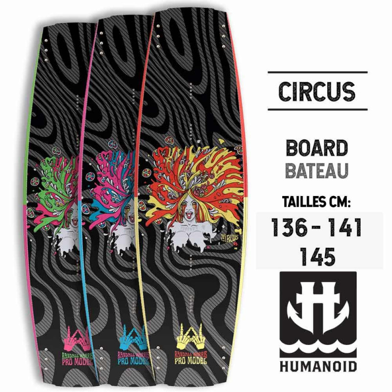 Humanoid wakeboard Circus 2017 145, 141, 136 cm occasion