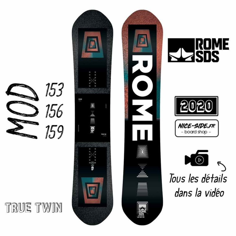 ROME MOD 2020 planche de snowboard homme