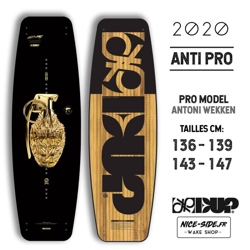 Double Up ANTI PRO 2019 planche de wakeboard