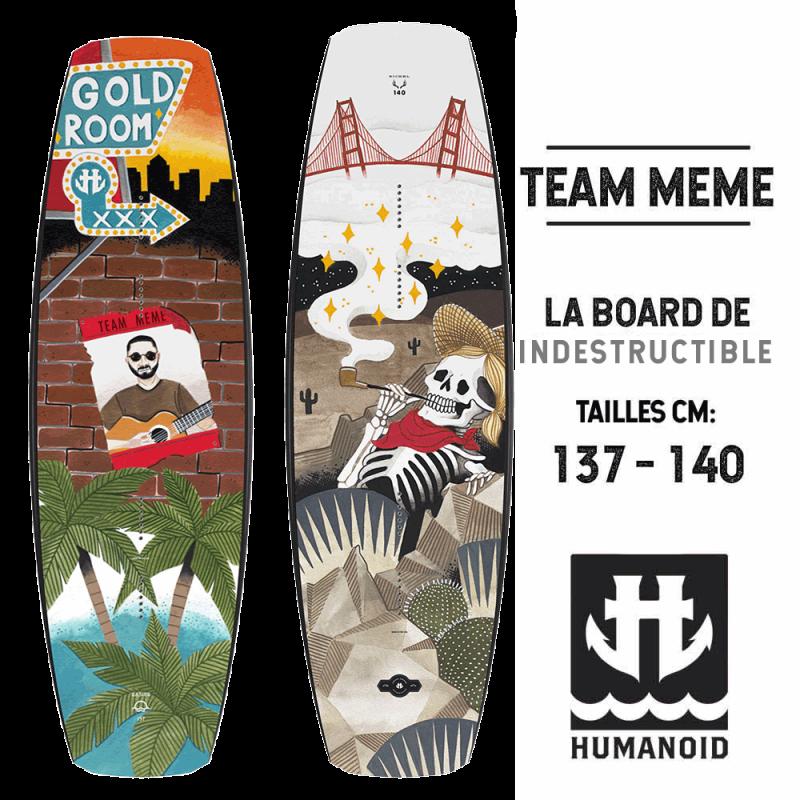 Humanoid Team Meme planche de wakeboard 149 cm, 140 cm, 137 cm 2017