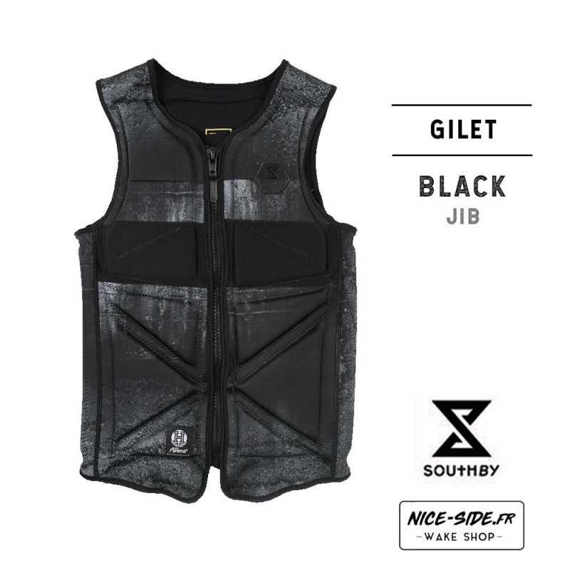 Gilet South By black
