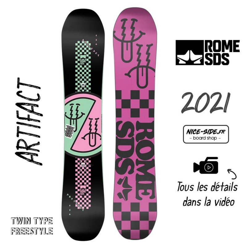 Rome Artifact snowboards homme 2021 pack snowboard + fixation