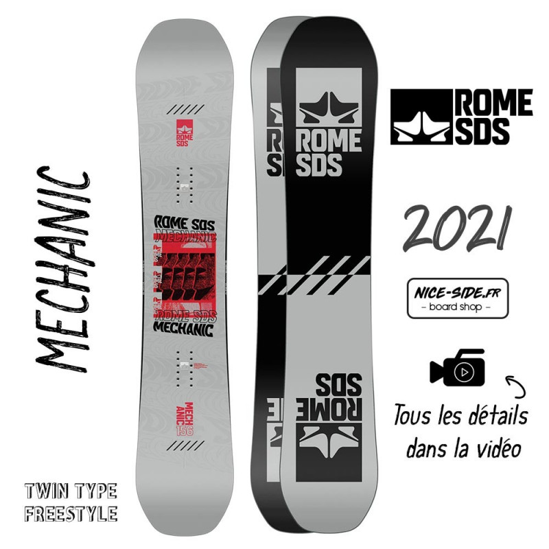 Rome Mechanic snowboards homme 2021 pack snowboard + fixation