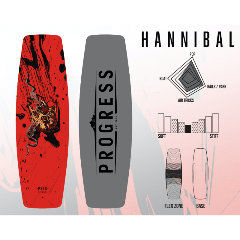 PROGRESS wakboard HANNIBAL 146 cm