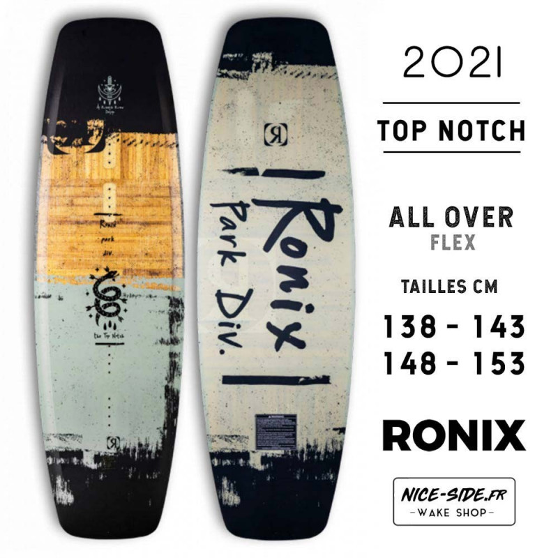 Ronix Top Notch all over Wakeboard homme cable park 2021