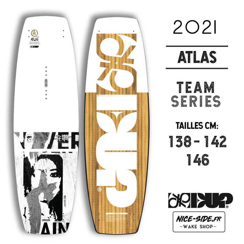 TEAM Double Up ATLAS 2021 wakeboard homme