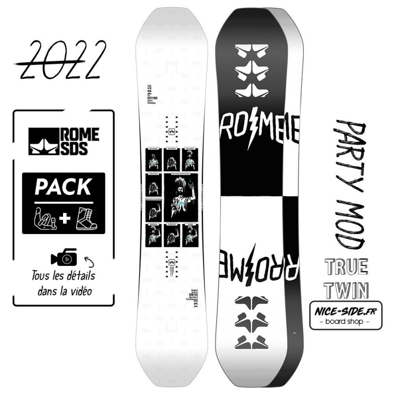 Rome Party Mod 2021-2022 snowboard homme