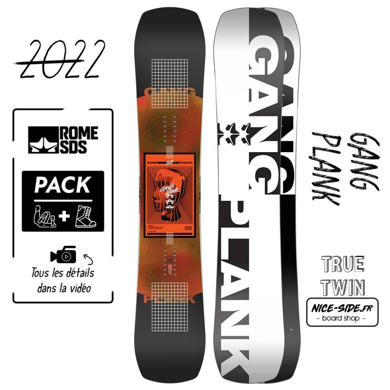 Rome Gang Plank 2021-2022 snowboard homme