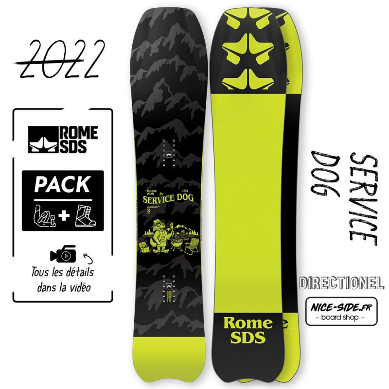 Rome Service Dog 2021-2022 snowboard homme