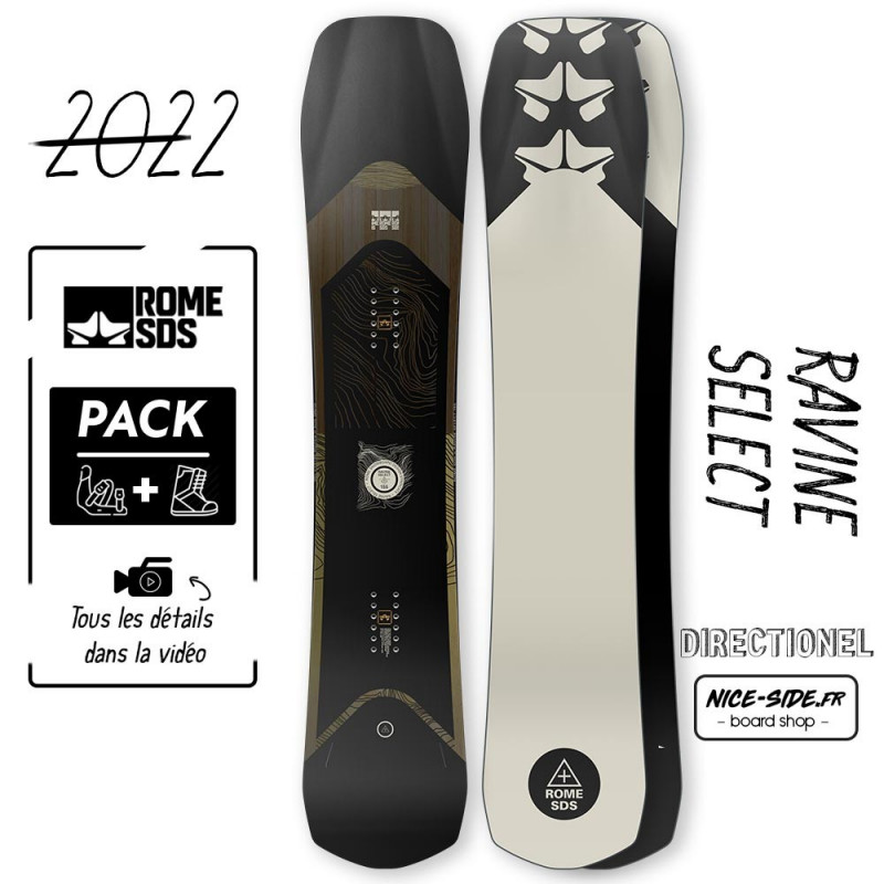 Rome RAVINE SELECT 2021-2022 snowboard homme