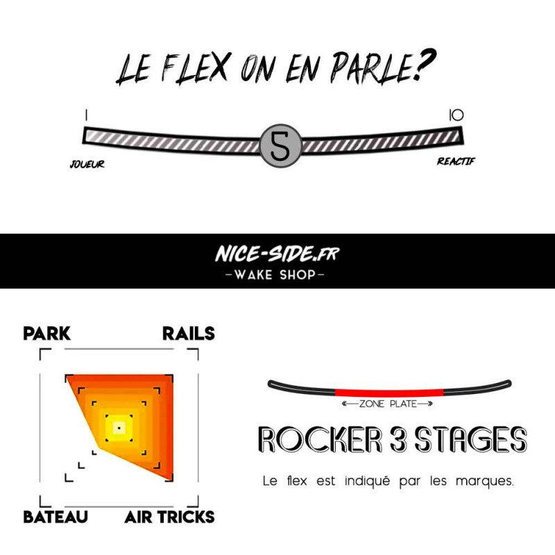 flex charts Double SDR LTD 2022 pack wakeboard homme wakepark