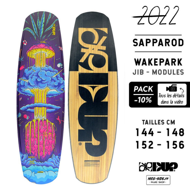 Double Up Sapparod 2022 pack wakeboard homme wakepark