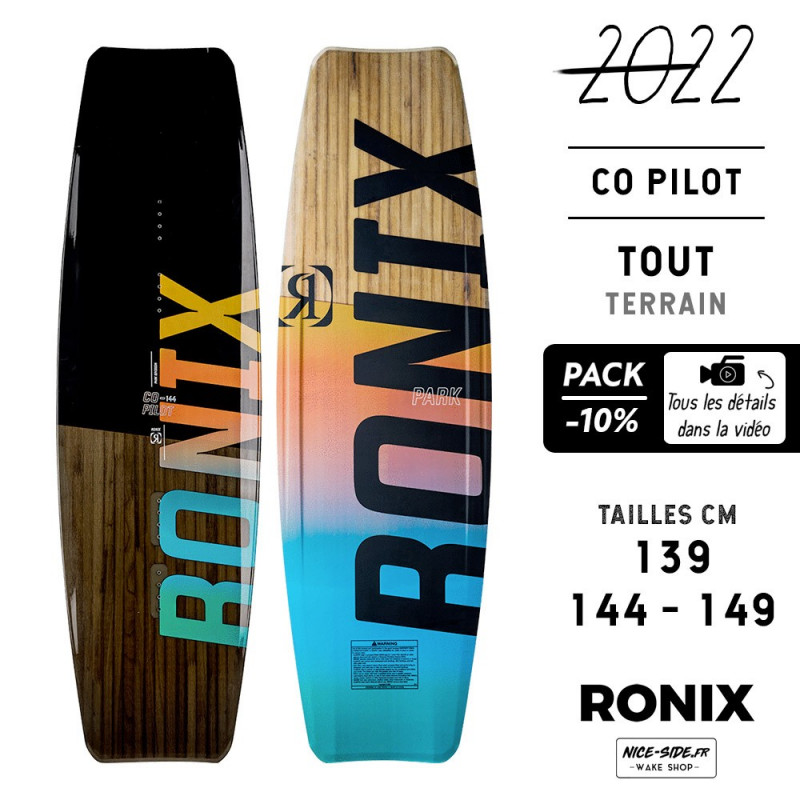 Ronix Co Pilot wakepark homme pack wakeboards et chausses