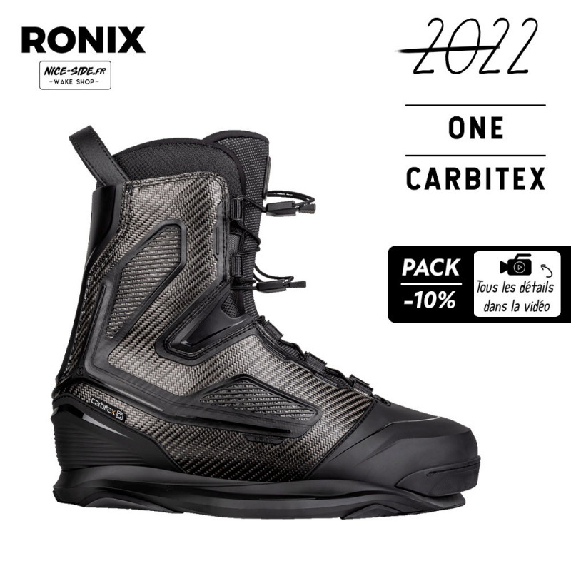 Ronix ONE CARBITEX Chausses wakeboard cable homme 2022