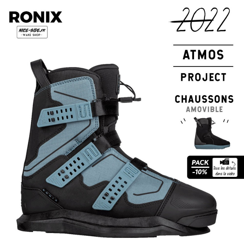 Chausses wakeboard homme Ronix Atmos EXP pack wakeboard 2022