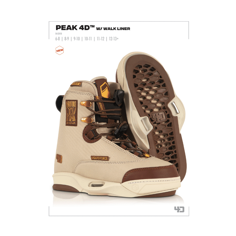 Liquid Force chausses PEAK 4D pack wakeboard homme 2022