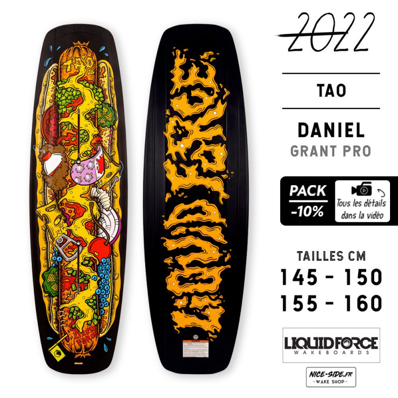 Liquid Force TAO 2022 pack planche et chausses wakeboard homme