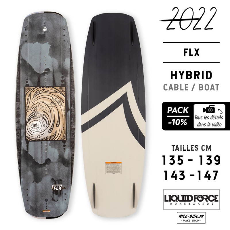 Liquid Force FLX 2022 pack planche et chausses wakeboard homme