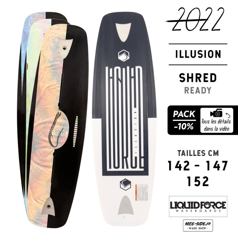 Liquid Force Illusion 2022 pack planche et chausses wakeboard homme