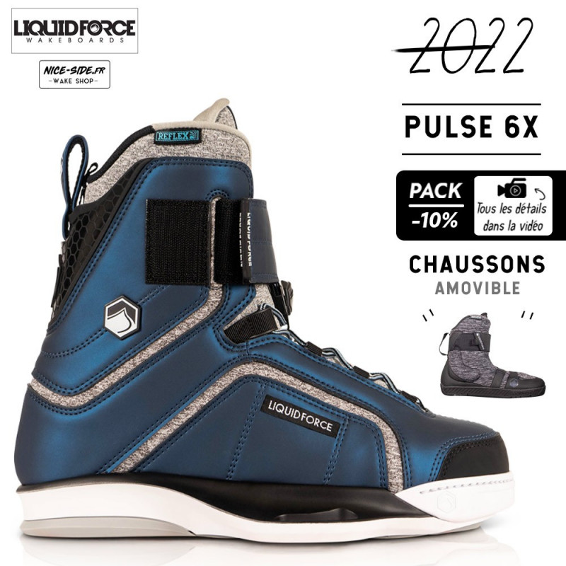Liquid Force chausses Pulse 6X pack wakeboard homme 2022