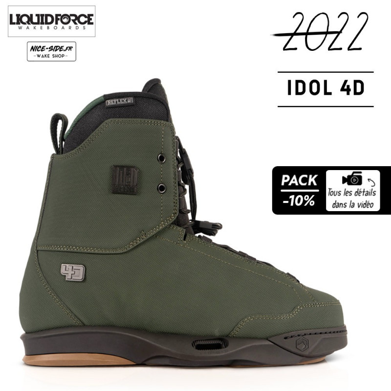 Liquid Force chausses Idol 4D pack wakeboard homme 2022