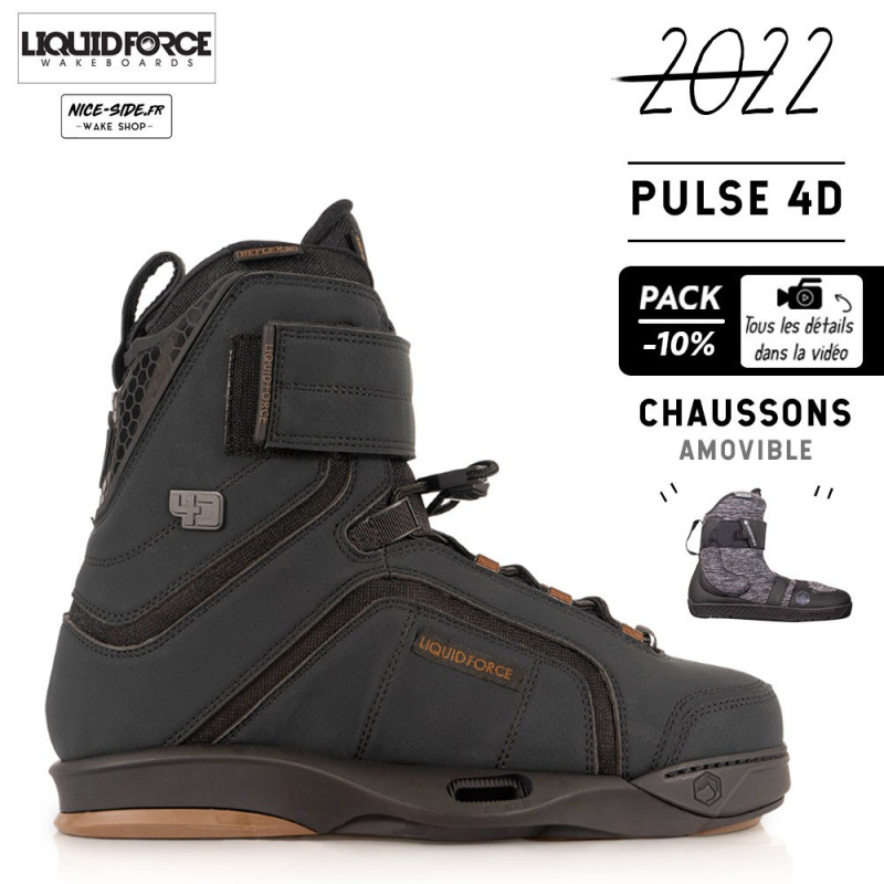 Liquid Force chausses Pulse 4D pack wakeboard homme 2022
