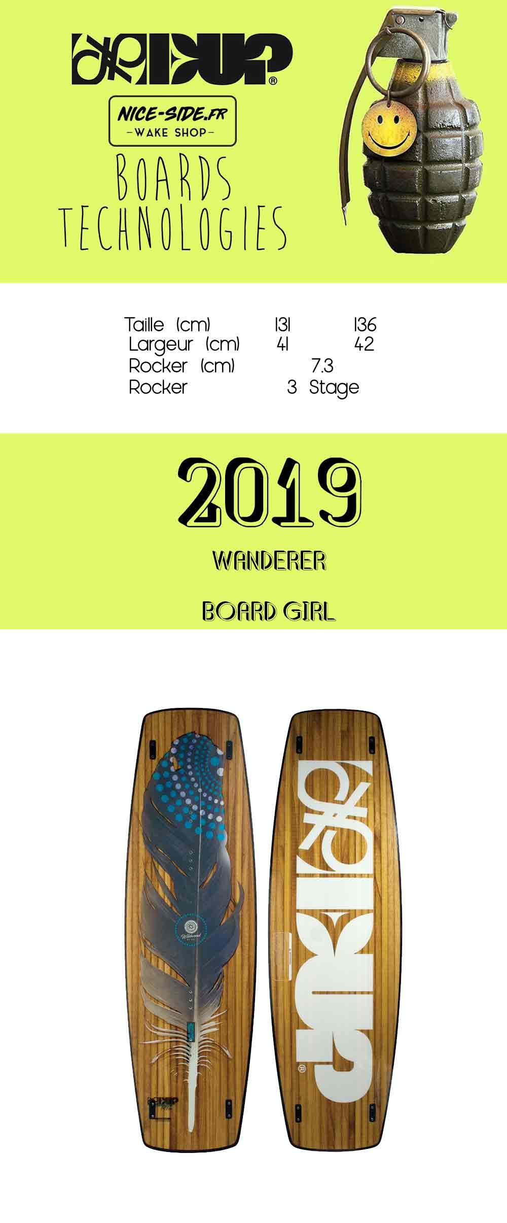 desciptif de la planche de wakboard wanderer 2019