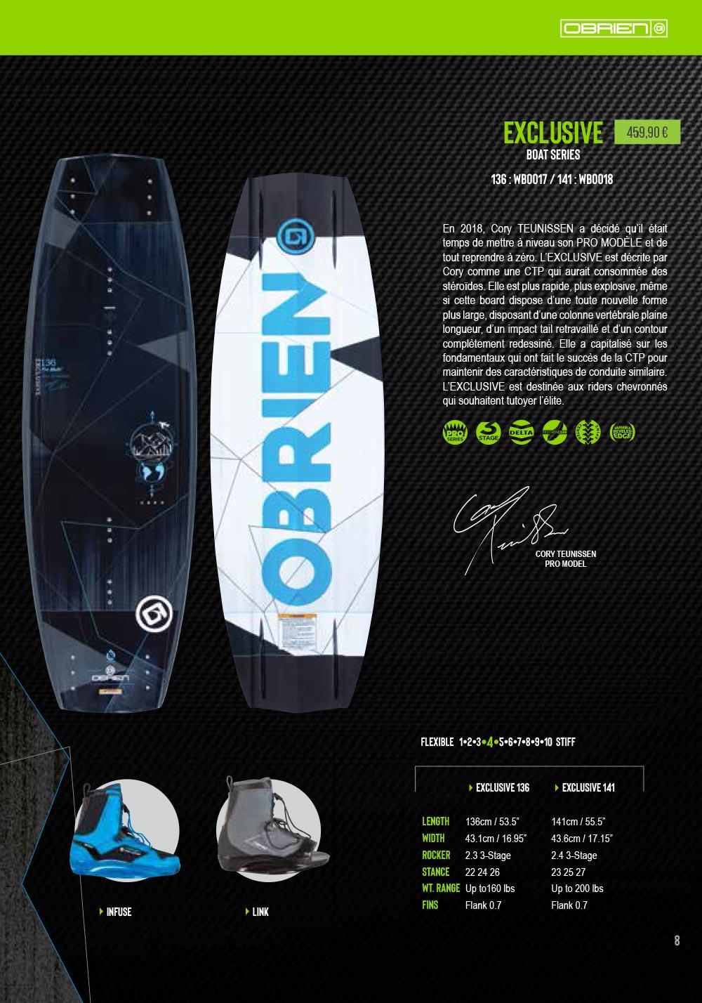 planche de wakeboard obrien exclusive