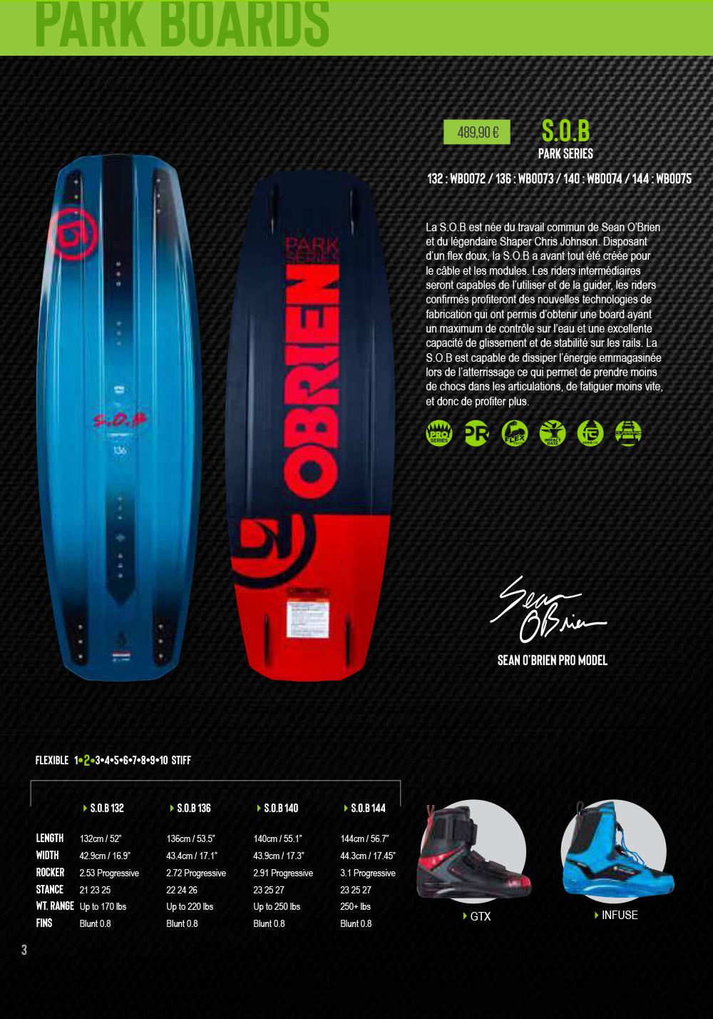 planche de wakeboard calbe SOB 2019