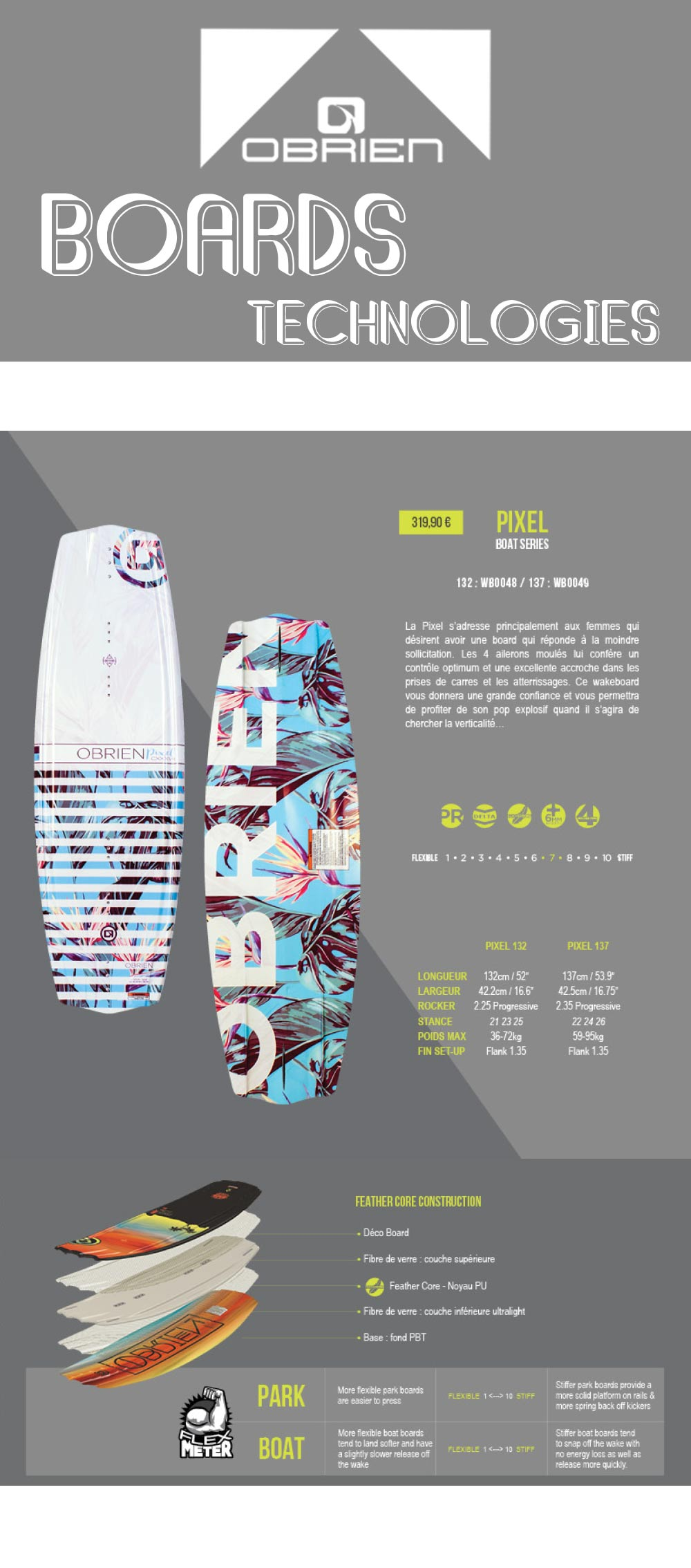 planche de wakeboard bateau pixel